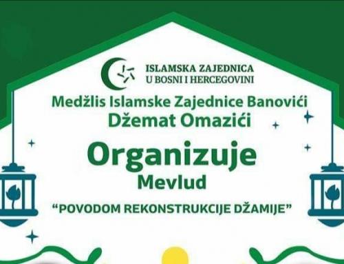Najava: Mevlud u džematu Omazići povodom rekonstrukcije džamije